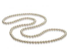 30 pouces Blanc 5-6mm AAA-qualité perles d'eau douce -Collier de perles