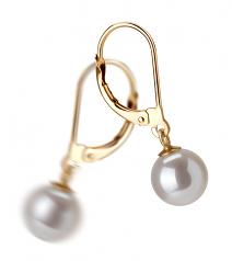 Marcella Blanc 7-8mm AAAA-qualité perles d'eau douce-Boucles d'oreilles en perles