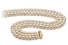 Dianna Blanc 6-7mm AA-qualité perles d'eau douce -Collier de perles