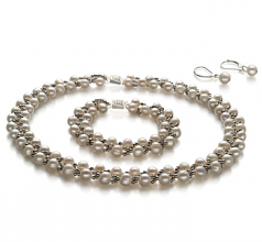 Weave Blanc 6-7mm A-qualité perles d'eau douce -un set en perles