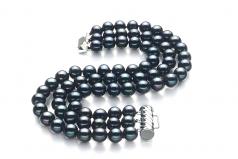 Medina Noir 6-7mm AA-qualité perles d'eau douce -Bracelet de perles