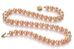 Rose 7-8mm AAAA-qualité perles d'eau douce Rempli D'or-un set en perles