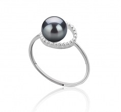 Andy Noir 6-7mm AAAA-qualité perles d'eau douce 925/1000 Argent-Bague perles