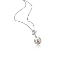 Coralie Blanc 7-8mm AA-qualité Akoya du Japon 925/1000 Argent-pendentif en perles