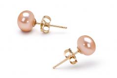Rose 6-7mm AA-qualité perles d'eau douce Rempli D'or-un set en perles