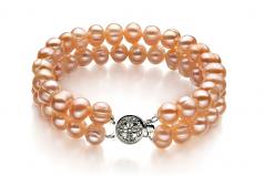 Kayra Rose 6-7mm A-qualité perles d'eau douce 925/1000 Argent-un set en perles