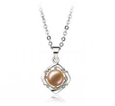 Vera Rose 6-7mm AA-qualité perles d'eau douce Blanc Bronze-pendentif en perles