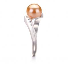 Dana Rose 6-7mm AAA-qualité perles d'eau douce 925/1000 Argent-Bague perles