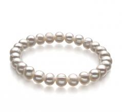 Bliss Blanc 6-7mm A-qualité perles d'eau douce -Bracelet de perles