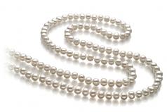 Betty Blanc 6-7mm A-qualité perles d'eau douce -Collier de perles