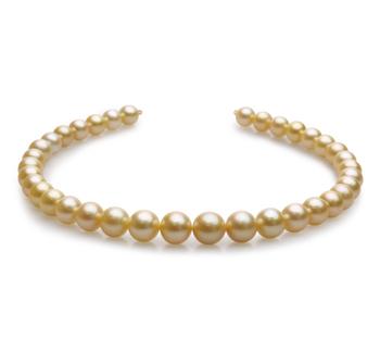 18 pouces Or 10-13.5mm AAA-qualité des Mers du Sud 585/1000 Or Jaune-Collier de perles