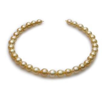 18 pouces Or 10-14mm Baroque-qualité des Mers du Sud 585/1000 Or Jaune-Collier de perles