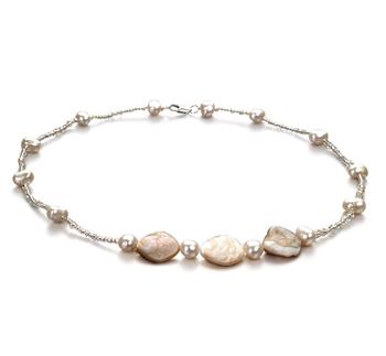 Ashley Blanc 3.5-4mm A-qualité perles d'eau douce -Collier de perles