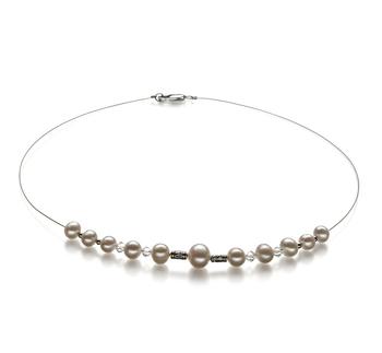 Bertha Blanc 6-10mm A-qualité perles d'eau douce -Collier de perles