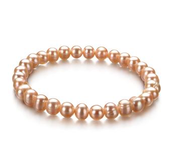 Bonheur Rose 6-7mm A-qualité perles d'eau douce -Bracelet de perles