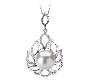 Calida Blanc 12-13mm AA+-qualité perles d'eau douce - Edison 925/1000 Argent-pendentif en perles