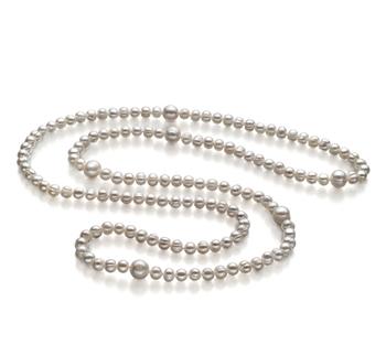 Chloe Blanc 6-11mm A-qualité perles d'eau douce -Collier de perles