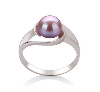 Claire Lavande 6-7mm AAA-qualité perles d'eau douce 925/1000 Argent-Bague perles