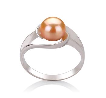 Claire Rose 6-7mm AAA-qualité perles d'eau douce 925/1000 Argent-Bague perles