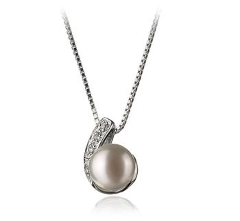 Claudia Blanc 7-8mm AA-qualité perles d'eau douce 925/1000 Argent-pendentif en perles