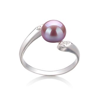 Dana Lavande 6-7mm AAA-qualité perles d'eau douce 925/1000 Argent-Bague perles