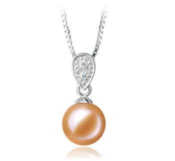 Daria Rose 7-8mm AAAA-qualité perles d'eau douce 925/1000 Argent-pendentif en perles