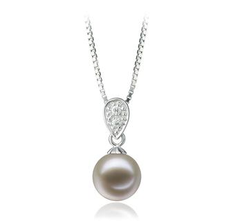 Daria Blanc 7-8mm AAAA-qualité perles d'eau douce 925/1000 Argent-pendentif en perles