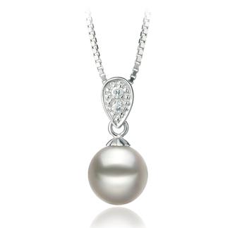 Daria Blanc 7-8mm AA-qualité Akoya du Japon 925/1000 Argent-pendentif en perles