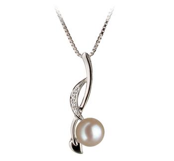 Diana Blanc 6-7mm AA-qualité Akoya du Japon 925/1000 Argent-pendentif en perles