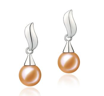 Edith Rose 7-8mm AAAA-qualité perles d'eau douce 925/1000 Argent-Boucles d'oreilles en perles