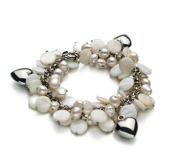 Harmony Blanc 6-7mm A-qualité perles d'eau douce -Bracelet de perles
