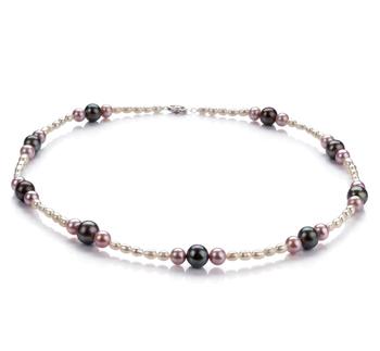 Ida Multicolore 3-8mm A-qualité perles d'eau douce 925/1000 Argent-Collier de perles