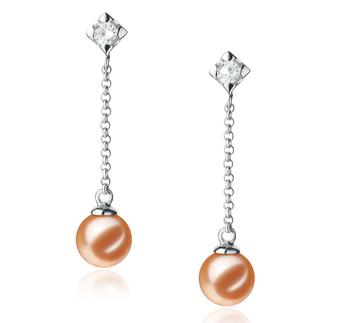 Ingrid Rose 6-7mm AAAA-qualité perles d'eau douce 925/1000 Argent-Boucles d'oreilles en perles