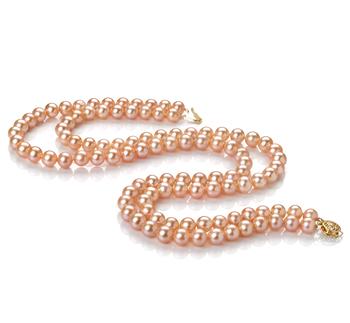 Jamilia Rose 7-8mm AA-qualité perles d'eau douce Rempli D'or-Collier de perles