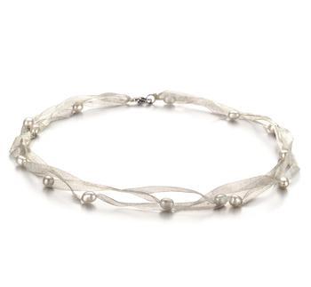 Jasmine Blanc 5-6mm A-qualité perles d'eau douce -Collier de perles
