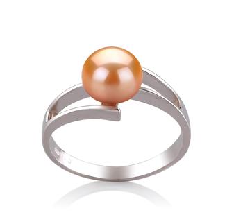 Jenna Rose 7-8mm AAA-qualité perles d'eau douce 925/1000 Argent-Bague perles