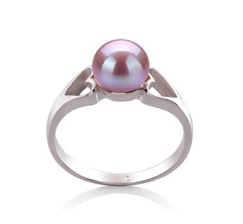 Jessica Lavande 6-7mm AA-qualité perles d'eau douce 925/1000 Argent-Bague perles