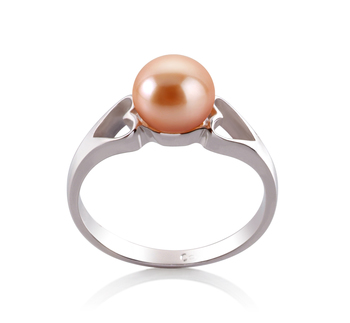 Jessica Rose 6-7mm AA-qualité perles d'eau douce 925/1000 Argent-Bague perles