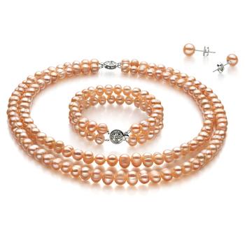 Kayra Rose 6-7mm A-qualité perles d'eau douce -un set en perles