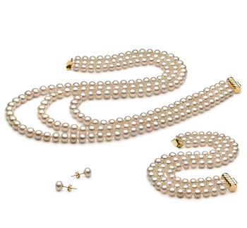 Lucille Blanc 6-7mm AA-qualité perles d'eau douce -un set en perles