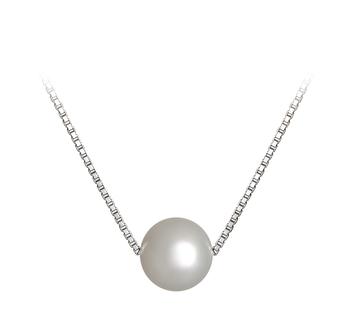 Madison Blanc 8-9mm AA-qualité perles d'eau douce 925/1000 Argent-pendentif en perles