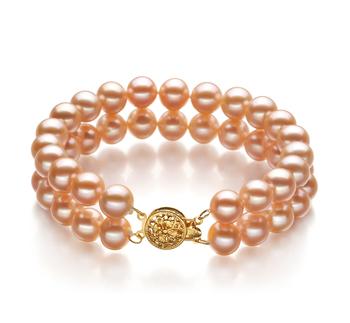 Maxima Rose 7-8mm AA-qualité perles d'eau douce Rempli D'or-Bracelet de perles