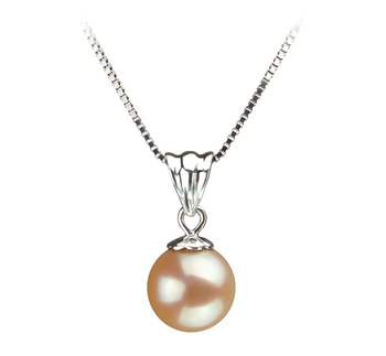 Nancy Rose 9-10mm AA-qualité perles d'eau douce 925/1000 Argent-pendentif en perles