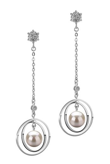 Misha Blanc 6-7mm AA-qualité Akoya du Japon 925/1000 Argent-Boucles d'oreilles en perles