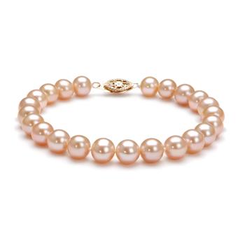 Rose 7-8mm AA-qualité perles d'eau douce Rempli D'or-Bracelet de perles