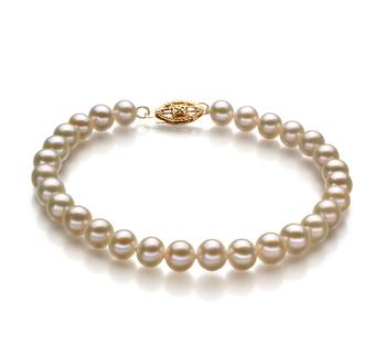 Blanc 5-5.5mm AA-qualité perles d'eau douce -Bracelet de perles