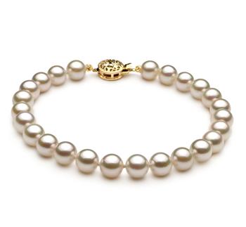 Blanc 6-7mm AA-qualité Akoya du Japon -Bracelet de perles
