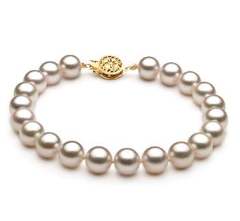 Blanc 7.5-8mm AA-qualité Akoya du Japon -Bracelet de perles