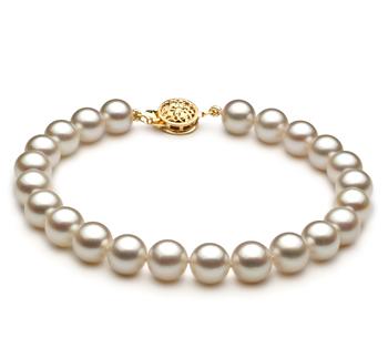 Blanc 7.5-8mm AAA-qualité Akoya du Japon -Bracelet de perles