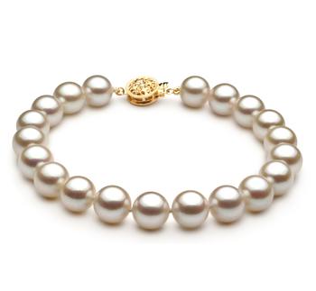 Blanc 8.5-9mm AAA-qualité Akoya du Japon -Bracelet de perles
